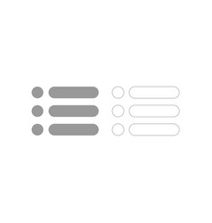 List grey set icon vector