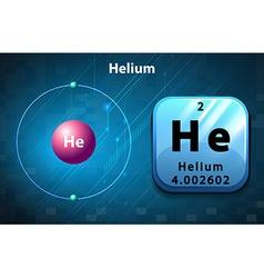 Periodic symbol and diagram of helium vector