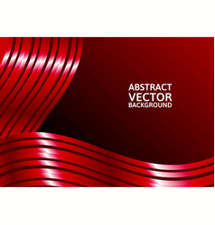 red curve abstract background with copy space vector image vector image