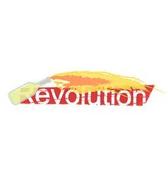 Revolution grunge scratched logo vector