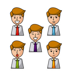 roundicon faceless people vector image