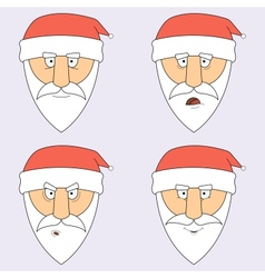 Santa Claus in different emotions vector image
