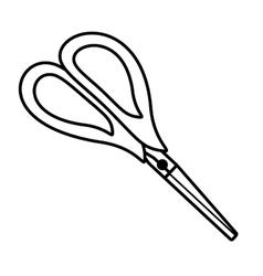 Scissor tool isolated icon vector