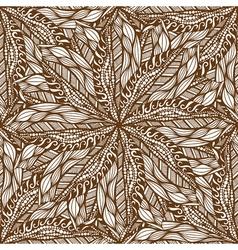 Seamless brown pattern vector