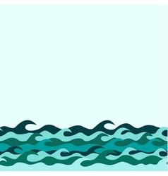 Seamless decorative border from marine waves vector