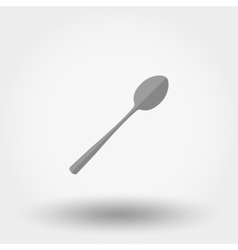 Spoon icon flat vector
