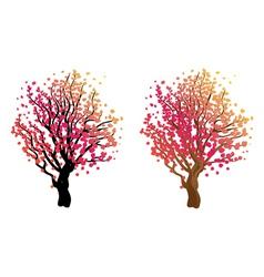 Stylized Autumn Tree7 vector image vector image