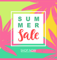 summer sale modern banner template background vector image vector image