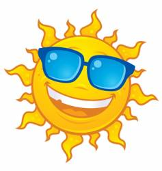 sun wearing sunglasses vector image vector image