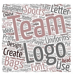 Team logo ideas for uniforms sports equipment bags vector