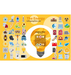 the energy infographic modern infographic template vector image