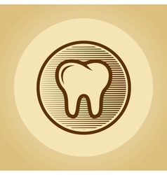 Tooth logo in retro style vector image