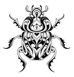 tribal style bug tattoo vector image