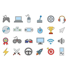 Entertainment colorful icons set vector