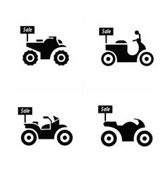 Sale motorcycle icon set vector