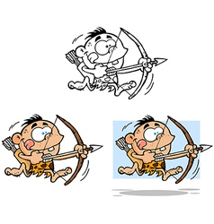 Cave boy collection vector