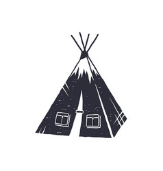 Hand drawn camp tent shape indian style tent vector