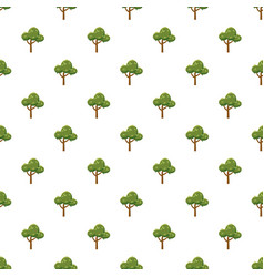 Fluffy tree pattern vector