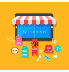 Online shopping and sale concept vector