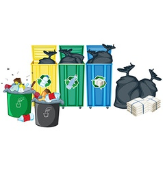 Rubbish bins vector