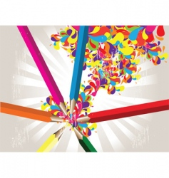 coloured pencils background vector image