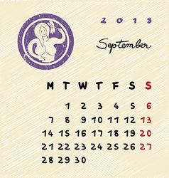 September 2015 zodiac vector