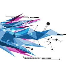 Abstract communication technology background vector