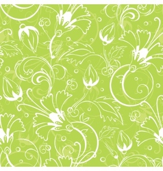 bright green floral seamless pattern vector image