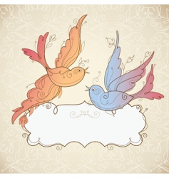 Frame with birds vector