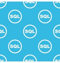 Sql sign blue pattern vector