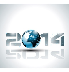 High tech 2014 happy new year background vector
