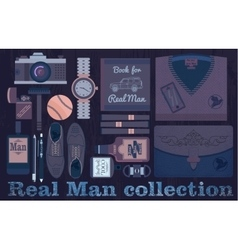 Real man collection vector