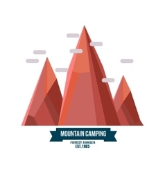 Majestic mountain peak vector