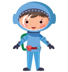 Cartoon astronaut vector