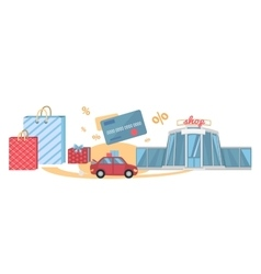 Shopping tour concept vector