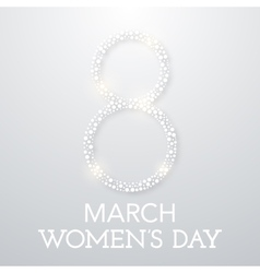 Trendy design template womens day vector