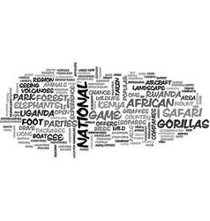 affrican safari text word cloud concept vector image vector image