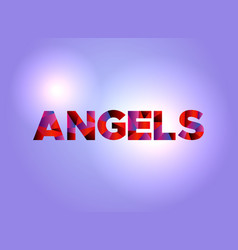Angels concept colorful word art vector