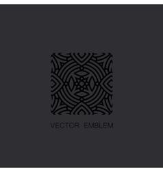art-deco black emblem vector image vector image