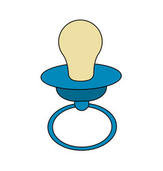Baby pacifier icon image vector
