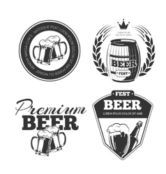 Beer festival emblems labels badges vector image vector image