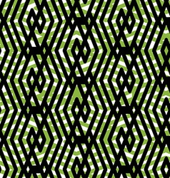 Bright rhythmic endless pattern with zigzag black vector image