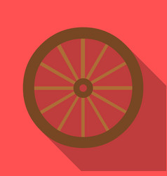 Cart-wheel icon flate singe western icon from the vector