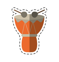 cartoon drum djembe percussion african vector image