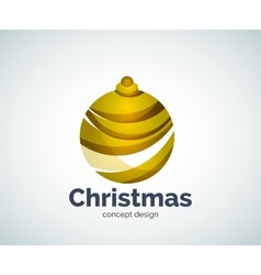 Christmas ball logo template vector
