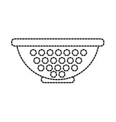 Colander pasta strainer utensil kitchen vector