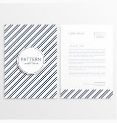 Company brochure with diagonal lines pattern vector