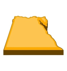 Egypt map icon cartoon style vector image