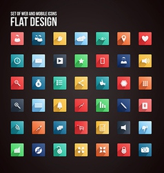 flat icon set 2 vector image vector image