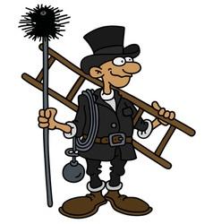 Funny classic chimneyer vector